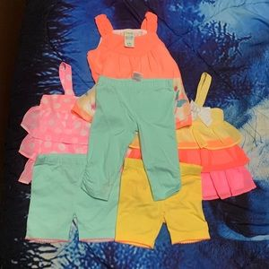 NWT 3 HealthTex 6-9 Months Girls Outfits